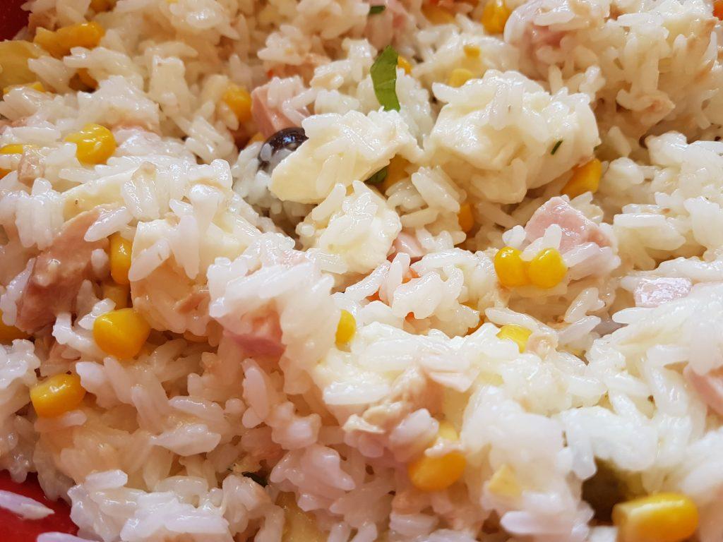 Insalata di riso senza lattosio