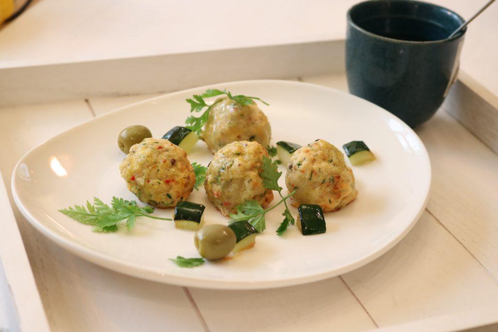 Polpettine di pollo con verdure